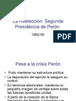 La Reelección Segunda Presidencia de Peron