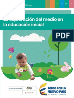 exploración del medio en la educación inicial