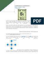 Semiconductores Intrínsecos y Extrínsecos