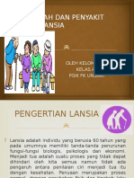 masalah dan penyakit pada lansia lansia