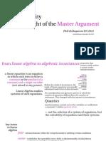 Bühlmann - From Linear Algebra to Algebraic Invariances