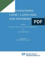 Elliott Mendelson - Foundations Logic, Language and Mathematics