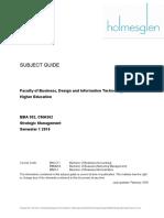 BBA302 Strategic Management Subject Outline