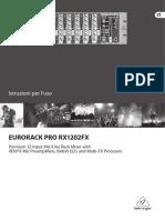 User Manual Behringer RX1202FX