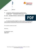 Informe Prueba Molino 9