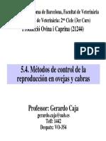 Metodos de Reproduccion Ovina y Caprina