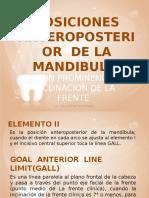 Posiciones Anteroposterior de La Mandibula