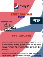 product analysis of pepsico essay