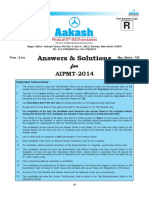 Aakash AIPMT 2014 Code R Solution