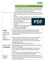 IASC Gender FoodSecurity-Checklist