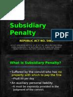 Subsidiary Penalty