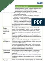 IASC Gender Livelihoods-Checklist