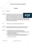 Lab8 Part II (Major Assessment) Determine an Unknown Organic Substance. the Report