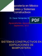 La mamposteria en Mexico materiales y sistemas constructivos.