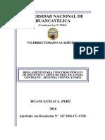 Reglamento Concurso Publico Docentes Segunda Convocatoria