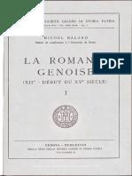 La Formation de La Romanie Génoise
