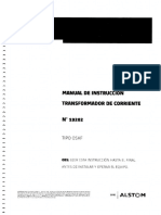 Manual de Instruccion Transformador de Corriente # 19202