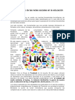 Uso Educativo de Las Redes Sociales en La Educación