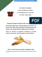 Articulo Fabricación de Papel Con Hojas de Maíz Como Materia Prima