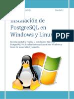 Unidad 2 Instalacion en Windows y Linux