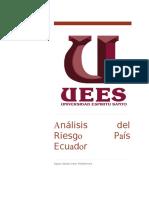 Análisis Del Riesgo País Ecuador Paper