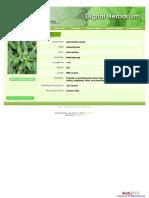 Digital Herbarium