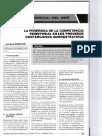 La Prorroga de La Competencia Territorial en Los Procesos Contencioso Administrativos - José María Pacori Cari