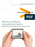 Accenture Business Intelligence and Predictive Analytics