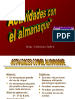 Almanaque  y las matemáticas