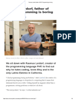 Rasmus Lerdorf, Father of PHP_ Programming is Boring