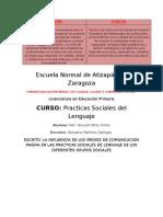 La influencia de los medios de comunicación en las Prácticas Sociales de Lenguaje