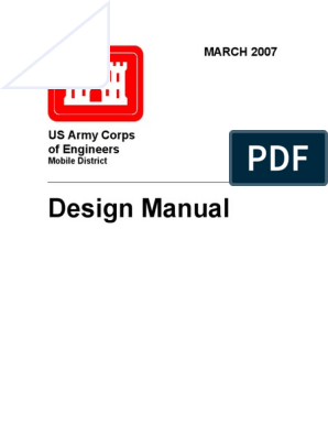Usace Design Manual Specification Technical Standard Product Lifecycle