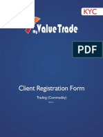 My Value Trade Commodity Form