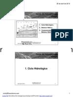 Ciclo Hidrológico y Balance Hídrico
