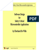 Software Design for Safety Critical Microcontroller Applications