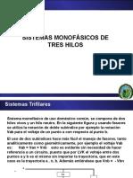 SISTEMAS MONOFÁSICOS DE TRES HILOS