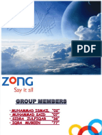 swot analysis ZONG