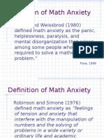 Anxiety Presentation