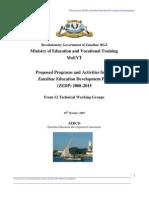 Zanzibar Planning for ZEDP