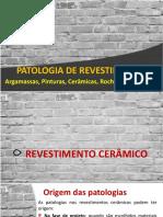 Ap6 - Patologia Revestimentos - Parte II