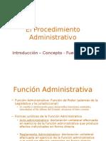 Procesal Administrativo I - Introducción