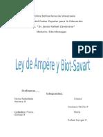 Ley de Ampere y biot savart