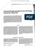 A General Design Equation for Air Lift Pumps Operating in Slug Flow