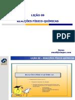 Licao 9_Reaccoes Fisico Quimicas