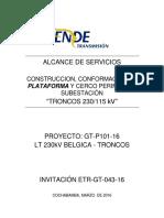 INVITACIÓN ETR GT 043 15 Plataforma Subestacion