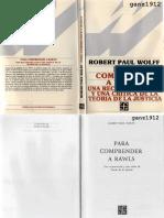 Wolff Robert Paul - Para Comprender a Rawls
