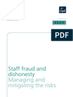 Staff Fraud and Dishonesty Managing and Mitigating the Risks 2012