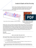 Geophysical Signals and Data Processing
