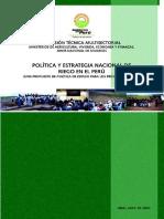 3. Política y Estrategia Nacional de Riego