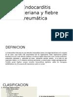 Endocarditis Bacteriana y Fiebre Reumática